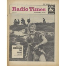 RT 2183 - September 9, 1965 (Sep 11-17) (South & West - with regional cover) HEREWARD THE WAKE (BBC-1) with cover photo of Alfred Lynch.
