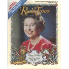 RT 3256 - 19-25 Apr 1986 (South West) Queen's 60th Birthday. Cover photo of the Queen - with border by Gerald Mynott