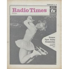 RT 2047 - January 31, 1963 (Feb 2-8) (Midlands & East Anglia) EUROPEAN FIGURE SKATING CHAMPIONSHIPS (TV) with cover photo of an  ice skater