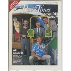 RT 3219 - 27 July-2 August 1985 (East) THE RADIO 2 RAILSHOW (Radio 2) with cover photo of Gloria Hunniford, Ken Bruce, Jimmy Young, David Hamilton and John Dunn.