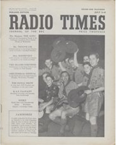RT 1394 - June 30, 1950 (Jul 2-8) (Scotland) JAMBOREE with cover photo of Scouts and Scoutmaster.