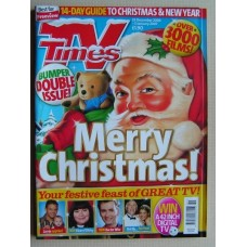 TVT 06/Xmas - 23 Dec 2006 - 5 Jan (England) CHRISTMAS 2006 & NEW YEAR DOUBLE ISSUE - with cover illustration (by Mark Thomas) of Santa with a teddy  / Plus thumbnail illustrations of  CORRIE - VICAR OF DIBLEY - DOCTOR WHO - STRICTLY...
