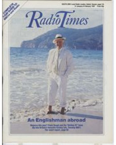 RT 3297 - 31 January-6 February 1987 (West) HOLIDAY 87 (BBC1) with cover photo of Frank Bough.