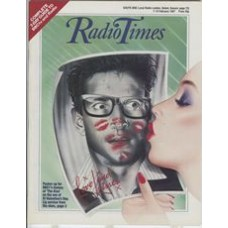 RT 3298 - 7-13 February 1987 (West) THE KISS (BBC1) with graphic art cover (by Mick Brownfield) of a girl kissing a photo of a man.
