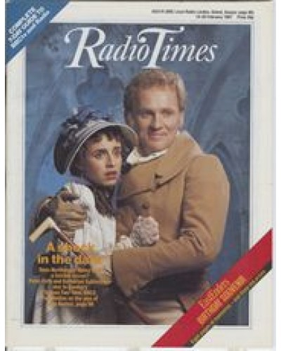 RT 3299 - 14-20 February 1987 (West) Screen Two: NORTHANGER ABBEY (BBC2) with cover photo of Peter Firth and Katharine Schlesinger.