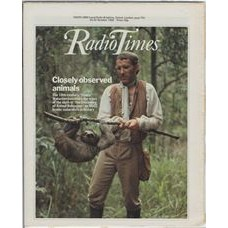 RT 3076 - 23-29 October 1982 (West) THE DISCOVERY OF ANIMAL BEHAVIOUR New series (BBC2) with cover photo of a man and a sloth