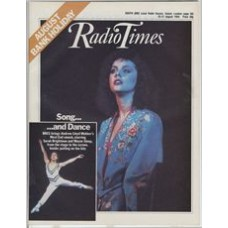 RT 3172 - 25-31 August 1984 (West) ANDREW LLOYD WEBBER'S SONG AND DANCE (BBC1) with cover photo of Brightman & Sleep. BBC1 brings Andrew Lloyd Webber's West End smash, starring Sarah Brightman and Wayne Sleep, from the stage to the screen.