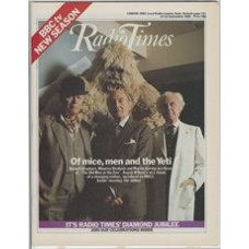 RT 3122 - 10-16 September 1983 (West) RADIO TIMES Diamond Jubilee / THE OLD MEN AT THE ZOO by Angus Wilson (BBC2) with cover photo of Robert Urquhart, Maurice Denham and Maurice Goring.