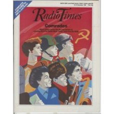 RT 3235 - 16-22 November 1985 (West) COMRADES with graphic art cover (by Jeff Cummins) of Russian people.