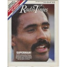 RT 3270 - 26 July-1 August 1986 (East) COMMONWEALTH GAMES -13th - Decathlon dynamo Daley Thompson on the cover.