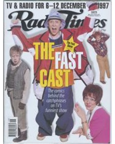 RT 3853 - 6-12 December 1997 (South West) THE FAST SHOW (BBC2) with cover photo of Paul Whitehouse, Mark Williams, John Thomson and Arabella Weir