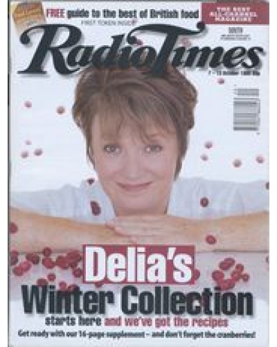 RT 3742 - 7-13 October 1995 (Scotland) DELIA SMITH'S WINTER COLLECTION (BBC2) with cover photo of Delia