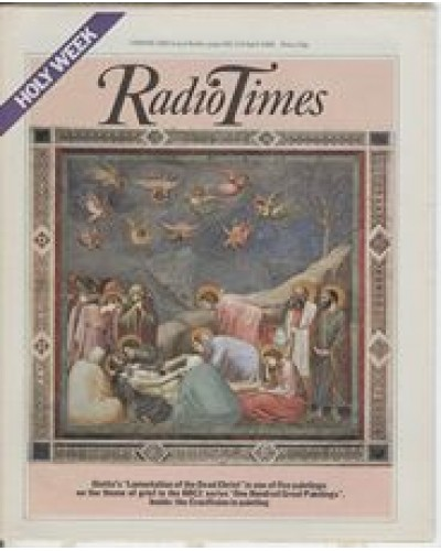 RT 3047 - 3-9 April 1982 (London) HOLY WEEK / ONE HUNDRED GREAT PAINTINGS (BBC2) with cover illustration (from Giotto's painting) 'Lamentaion of the Dead Christ'.