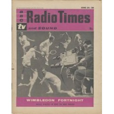 RT 1963 - June 22, 1961 (Jun 24-30) (London) WIMBLEDON (TV & Radio) with cover photo-montage of a BBC cameraman filming seven tennis players in action