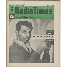 RT 1966 - July 13, 1961 (Jul 15-21) (London) THE MORT SAHL SHOW (TV) with Mort Sahl on the cover.