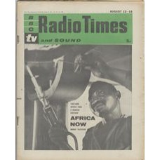RT 1970 - August 10, 1961 (Aug 12-18) (London) AFRICA NOW (TV) with cover photo of an African skilled worker. First hand reports from a changing continent.