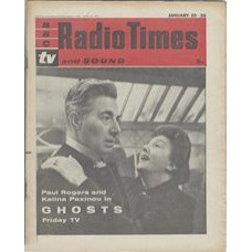 RT 1993 - January 18, 1962 (Jan 20-26) (London) GHOSTS (TV) with cover photo of Paul Rogers and Katrina Paxinov
