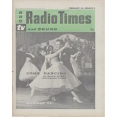 RT 1998 - February 22, 1962 (Feb 24-Mar 2) (London) COME DANCING (TV) the final of the BBC inter-regional contest - with cover photo of a couple dancing.