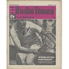 RT 2015 - June 21, 1962 (Jun 23-29) (London) WIMBLEDON (TV & Sound) with cover photo of tennis player