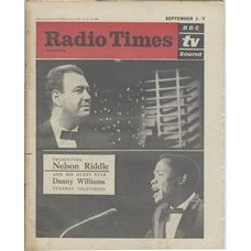 RT 2025 - August 30, 1962 (Sep 1-7) (London) PRESENTING NELSON RIDDLE (TV) with cover photos of Nelson Riddle and his guest star Danny Williams