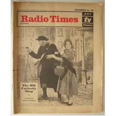 RT 2037 - November 22, 1962 (Nov 24-30) (London) THE OLD CURIOSITY SHOP (TV) with cover photo of Michele Dotrice and Oliver Johnson (against a background drawing).
