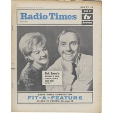 RT 2070 - July 11, 1963 (Jul 13-19) (London) THE DICK EMERY SHOW (TV) with cover photo of Dick Emery and Joan Sims.