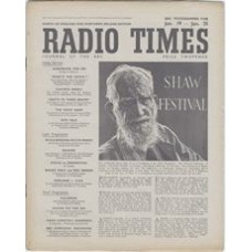 RT 1216 - January 17, 1947 (Jan 19-25) (West of England) SHAW FESTIVAL (Third Programme) George Bernard Shaw. Cover drawing by (TL Poulton) a portrait of Shaw / MRS WARREN'S PROFESSION / THE DEVIL'S DISCIPLE / THE DOCTOR'S DILEMMA [and 2 more next week].