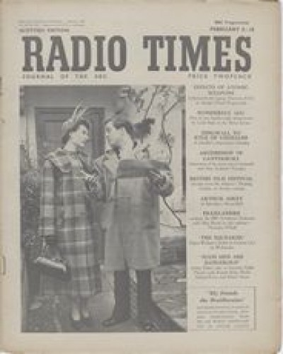 RT 1421 - Feb 2, 1951 (Feb 4-10) (Television Edition) MY FRIENDS THE BRAITHWAITES (Scottish Home Service) Sheila Sim & Richard Attenborough