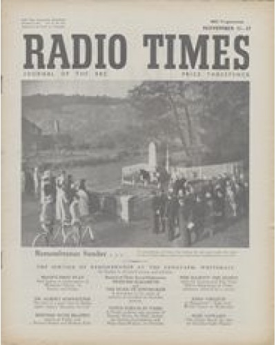 RT 1461 - November 9, 1951 (Nov 11-17) (Scotland) REMEMBRANCE SUNDAY - with photo of people gathered at a war memorial