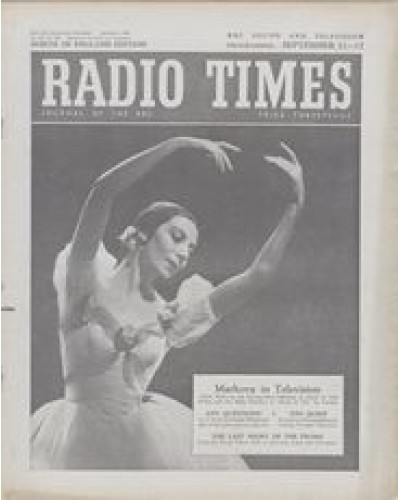 RT 1661 - September 9, 1955 (Sep 11-17) (London) MUSIC AT TEN - with cover photo of Alicia Markova, dancing.