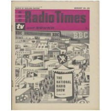 RT 1971 - August 17, 1961 (Aug 19-25) (Northern Ireland) NATIONAL RADIO SHOW with cover drawing (by Victor Reinganum) of the showground