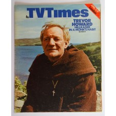 TVT 1974/16 - April 13-19, 1974 (London) Sunday Night Theatre CATHOLICS - with cover photo of  Trevor Howard as the Abbot.