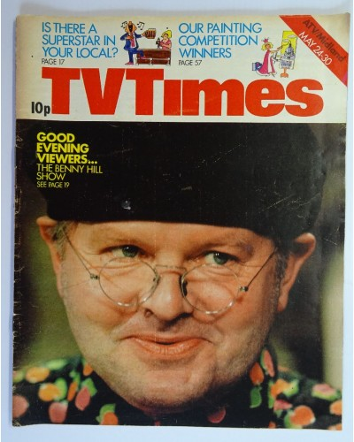 TVT 1975/22 - May 24-30, 1975 (ATV/Midland) THE BENNY HILL SHOW - with cover photo of Benny.