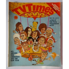 TVT 1975/Xmas - December 20, 1975 - January 2 (ATV/Midland) CHRISTMAS 1975 & NEW YEAR DOUBLE with cover cartoon illustration of hot air balloon carrying assorted celebrities - All Aboard for Christmas and the New Year.