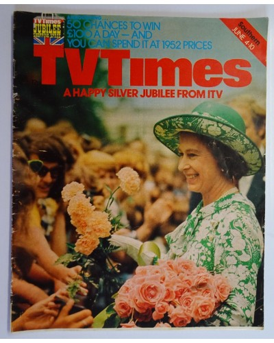 TVT 1977/23 - June 4-10, 1977 (Southern) A QUEEN IS CROWNED - The Queen's Silver Jubilee - with Her Majesty on the cover.