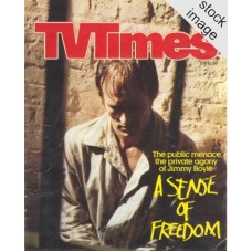 TVT 1981/08 - February 14-20, 1981 (Westward) A SENSE OF FREEDOM - with cover photo of David Hayman. The public menace, the private agony of Jimmy Boyle.