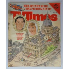 TVT 1981/31 - July 25-31, 1981 (ATV) THE ROYAL WEDDING Illustration of the procession route with thumbnail insets of Prince Charles and Lady Diana.