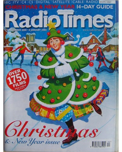 RT 4060 - 22 December 2001-4 January 2002 (Midlands) CHRISTMAS 2001 & NEW YEAR DOUBLE with cover illustration (by Paul Slater) of a 'Christmas tree' girl, skating