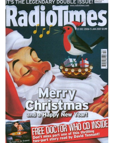 RT 4316 - 23 December 2006 - 5 January 2007 (Midlands) CHRISTMAS NUMBER 2006 & NEW YEAR DOUBLE ISSUE with cover illustration (by Nigel Buchanan) of Santa with a robin nesting in his beard.