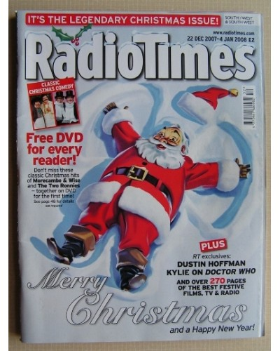 RT 4367 - 22 December 2007 - 4 January (South / West & SouthWest) CHRISTMAS NUMBER 2007 & NEW YEAR DOUBLE ISSUE with cover illustration (by Nigel Buchanan) of Santa lying in the snow 'making an angel'.