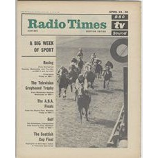 RT 2163 - Apr 22, 1965 (Apr 24-30) (London & South-East)  RACING FROM NEWMARKET (BBC-1 / Light) A Big Week of Sport - with cover photo of horse racing.
