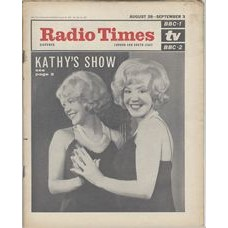 RT 2181 - August 26, 1965 (Aug 28-Sep 3) (South & West) THE KATHY KIRBY SHOW with cover photo.