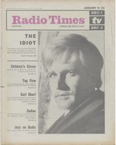 RT 2200 - January 6, 1966 ( Jan 8-14) (London & South-East)  THE IDIOT (BBC-2) with cover photo of David Buck as Prince Myshkin / ZODIAC (BBC-1)