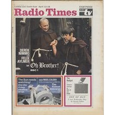 RT 2370 - April 10, 1969 (Apr 12-18) (London & South-East) OH BROTHER (BBC1) with main cover photo of Derek Nimmo and Felix Aylmer / THE VIOLENT UNIVERSE / THE BUDGET