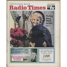 RT 2376 - May 22, 1969 (May 24-30) (London & South-East)  THE VERY MERRY WIDOW (BBC1) with main cover photo of Moira Lister / Motoring Number WHEELBASE / TOWARDS TOMORROW Tuesday's Documentary about primary school education.
