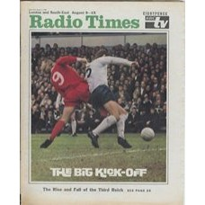 RT 2387 - Aug 7, 1969 (Aug 9-15) (South & West)  MATCH OF THE DAY with full cover photo of a football tackle.