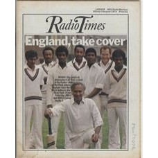 RT 2594 - 26 July 1973 (28 Jul-3 Aug) (Midlands) CRICKET: FIRST TEST (BBC1 / BBC2 / Radio 3) West Indies Captain, Rohan Kanhal and his team.