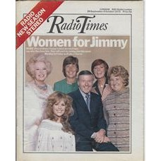 RT 2603 - 27 September 1973 (29 Sep-5 Oct) (London) JIMMY YOUNG (Radio 2) with fans, Barbara Cartland, Christine Janes, Cilla Black, Eirwen Richards and Vivienne Neves on the cover.