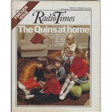 RT 2607 - 25 October 1973 (27 Oct-2 Nov) (London) FIRESIDE ISSUE / QUITE A FAMILY (BBC1) with cover photo of Quins: Tanya, Jo, Gary, Cara and Sharon Letts.