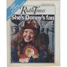 RT 2648 - 8 August 1974 (10-16 Aug) (East Anglia) THE OSMONDS (BBC1) with cover photo of Karen Stubbs (Osmonds fan)